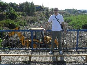 Saša na mostu Perunovića - radna posjeta